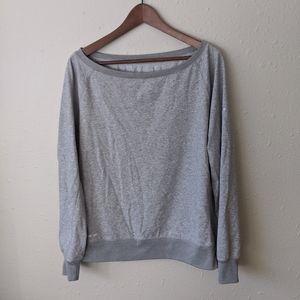 Grey Nike dri fit pull over sweatshirt sweater